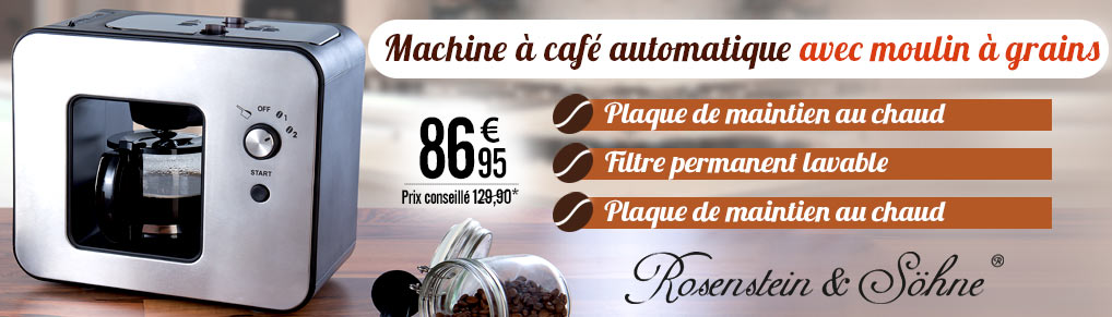 Machine à café automatique design 800 W avec moulin à grains KF-506 - NX9416