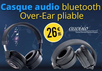 ZX1564 Casque audio Bluetooth Over-Ear pliable OK-150.bk